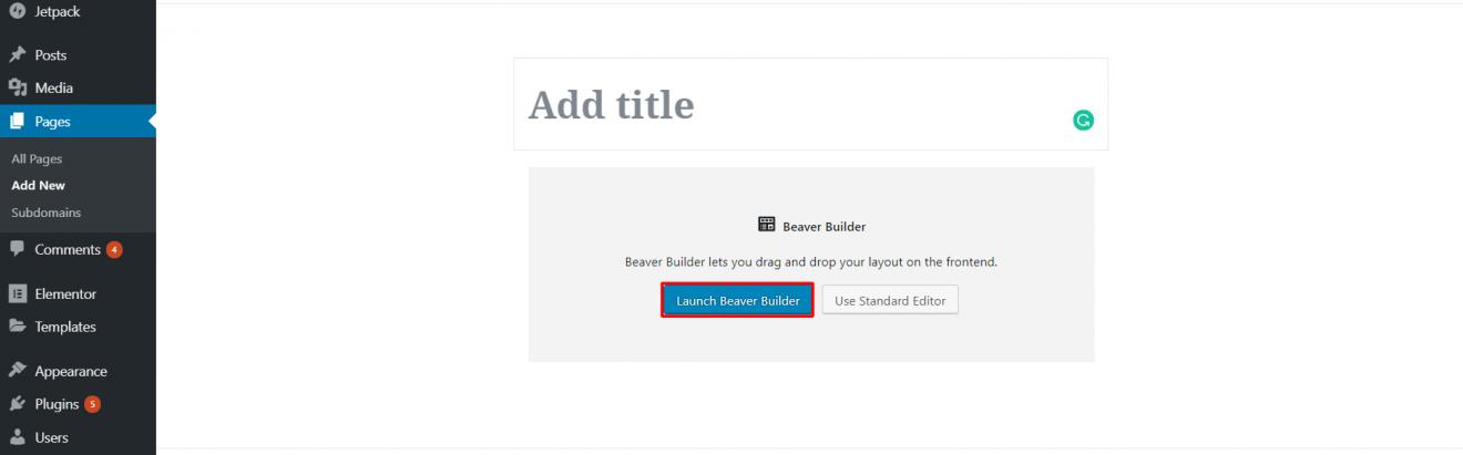 page builder wordpress beaver builder start