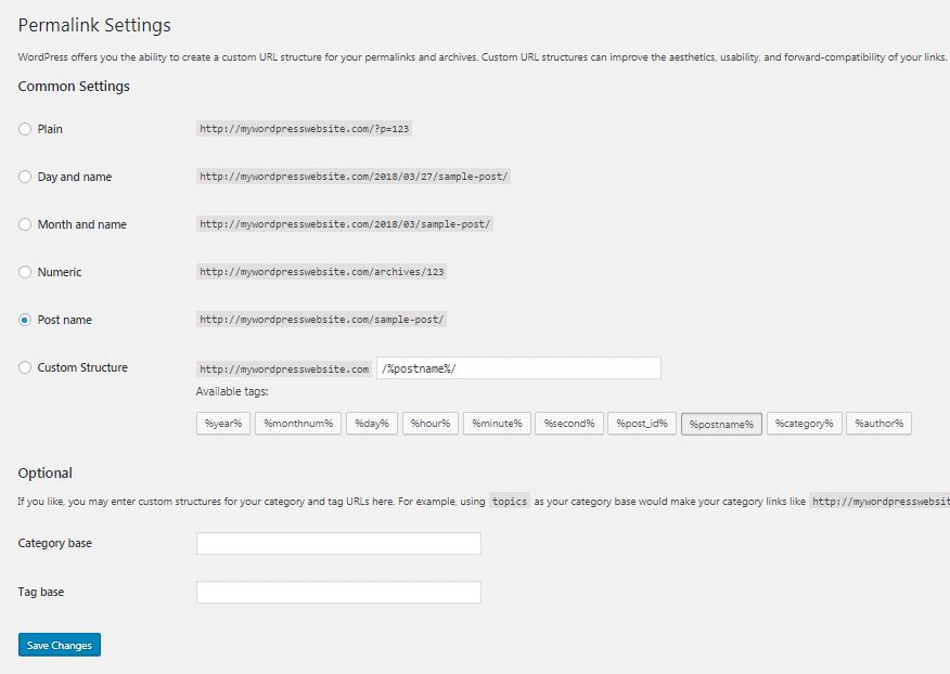 generare file htaccess wordpress