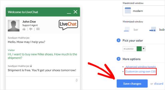 aggiungere-live-chat-wordpress-personalizzare-css