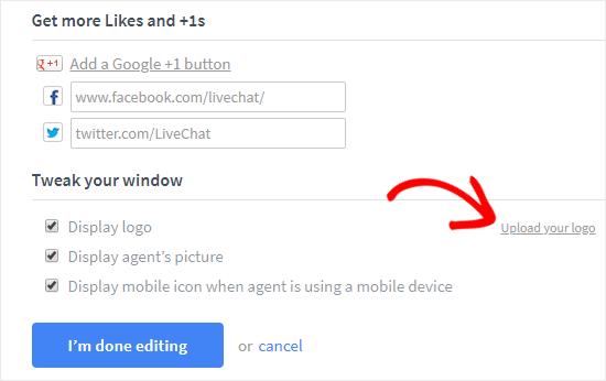 creare-live-chat-in-wordpress-upload-logo