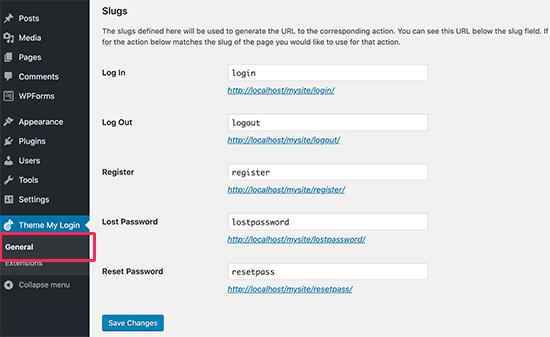 personalizzare-login-wordpress-slug