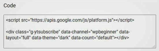 aggiungere-pulsante-iscriviti-youtube-in-wordpress-codice