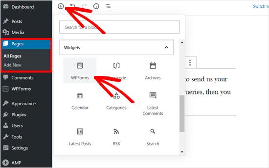 aggiungere-block-wpforms-in-wordpress