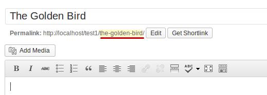 Slug In Wordpress