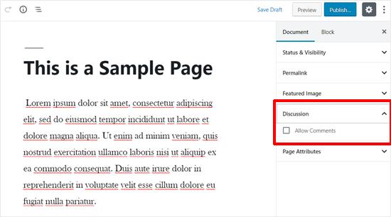abilitare-commenti-in-una-pagina-wordpress