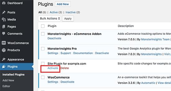 attivare-plugin-site-specific-wordpress