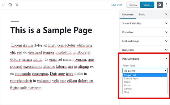 attributi-della-pagina-in-wordpress