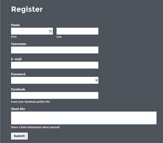 form-di-registrazione-utente-wordpress