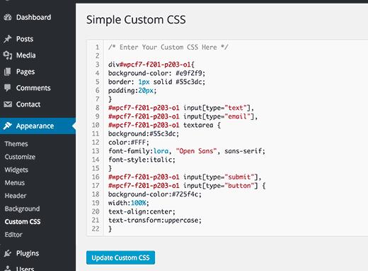 inserire-css-personalizzato-in-wordpress-con-simplecustomcss