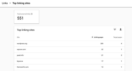 siti-con-link-principale-in-googlesearchconsole