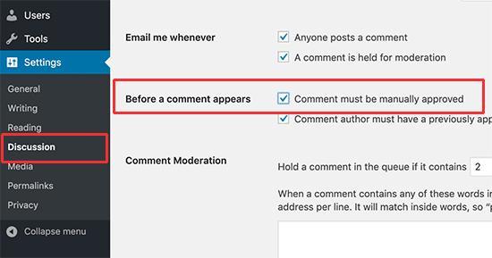 attivare-moderazione-commenti-in-wordpress