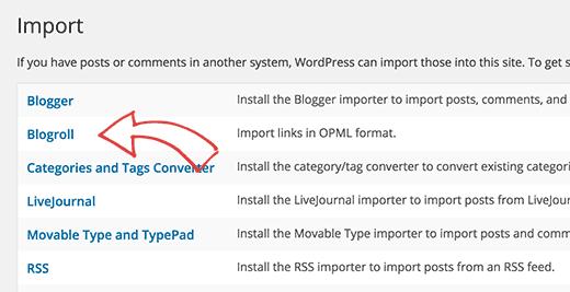 Blogroll Importer Da Wpcom A Wporg