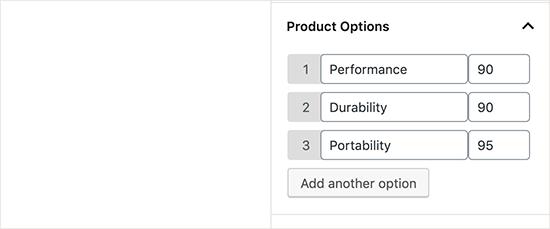 productoptions-per-sito-web-di-recensioni