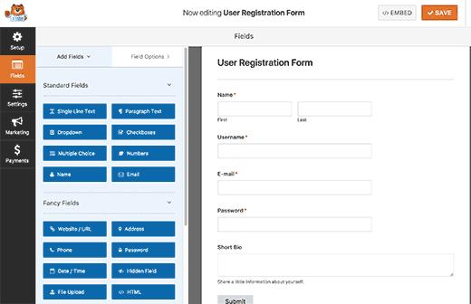 personalizzare-modulo-registrazione-utente-con-wpforms