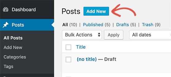 aggiungere-nuovo-post-con-gutenberg-in-wordpress
