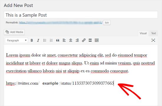 aggiungere-tweet-in-wordpress-classic-editor