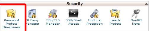 Passwordprotectdirectories