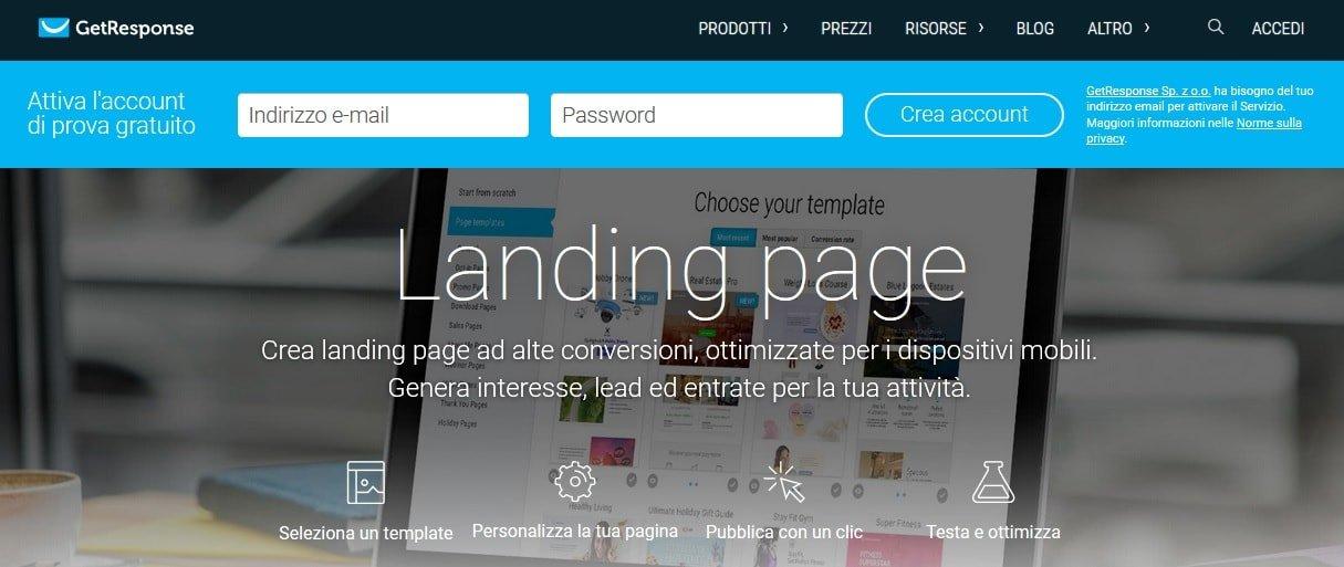 Getresponse Landing Page