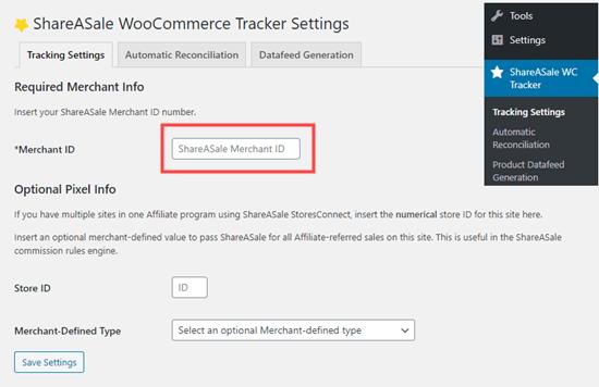 ShareASale WooCommerce Tracker
