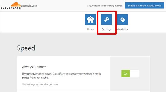 Cloudflareforwordpresssettings