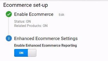 Enable Enhanced Ecommerce 1