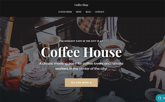Hestia Pro Coffee Theme