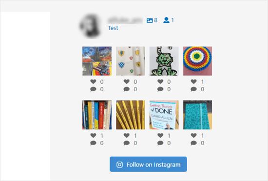 Instagram Feed Sidebar No Captions