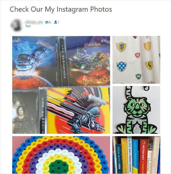 Instagram Photos Highlight Layout