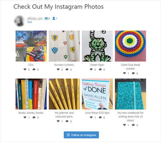 Instagram Photos On Site