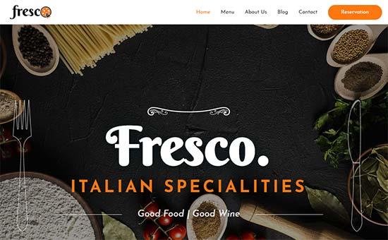 Italian Restaurant Theme Astra