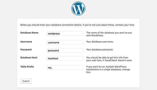 Wp Database Info