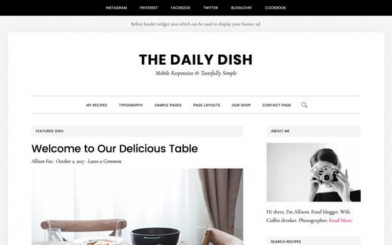 Daily Dish Theme