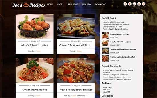 Foodrecipes Theme