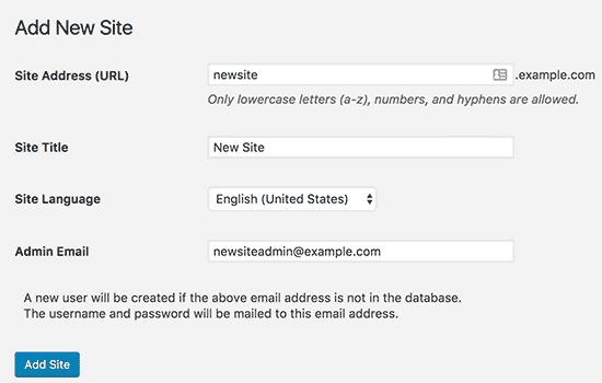 Newsitepage Wordpress Multisite