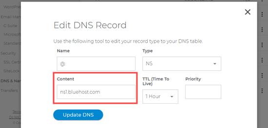 Update Domaincom Nameserver