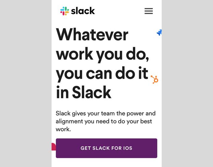 Slack Mobile CTA