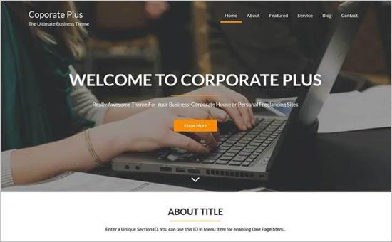 Corporate Plus Theme