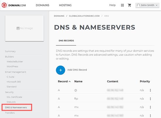 Dns And Nameservers Domaincom