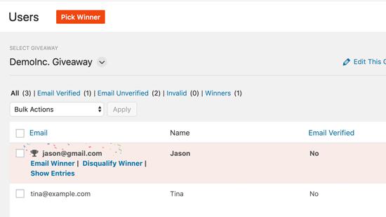 Emailwinner