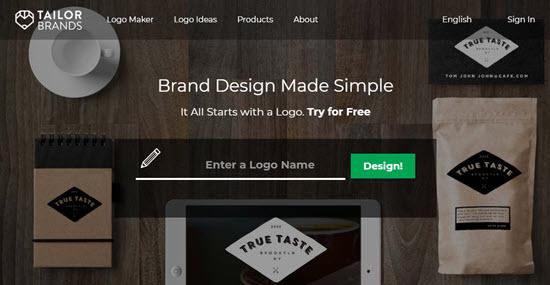 Logo Maker Tailor Brands