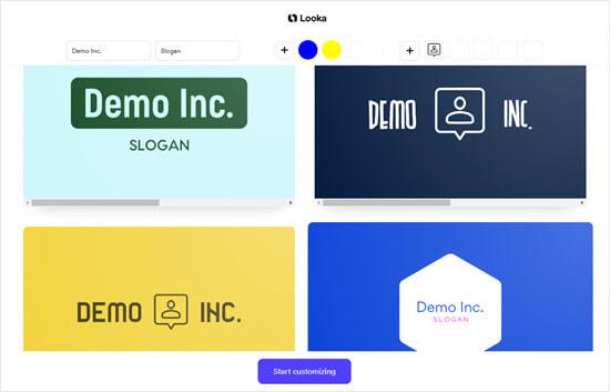 Looka Demo More Logos