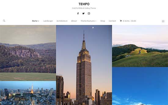 Tempo Theme Photograpy