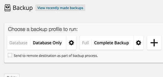 Backupprofiles