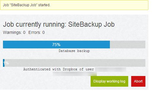 Running Backup Job1