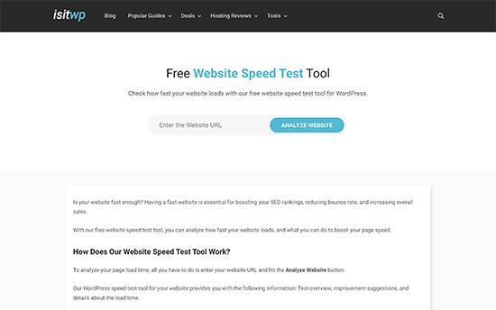Isitwp Websitespeedtest