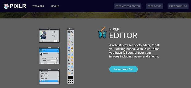Pixlr Web Apps