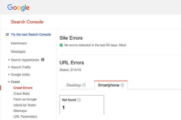 Search Console Crawl Errors1