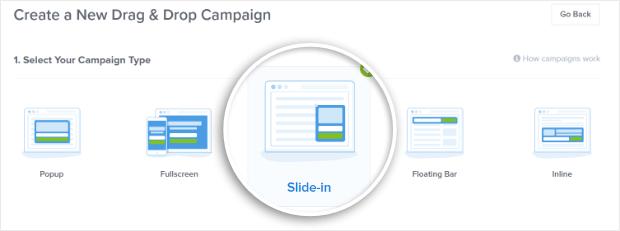 Select Slide In