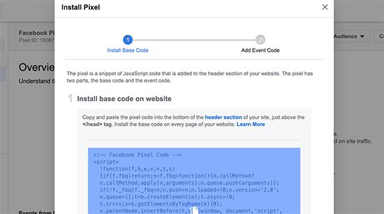 Copyfacebookpixelcode