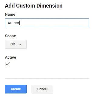 Create Custom Dimension